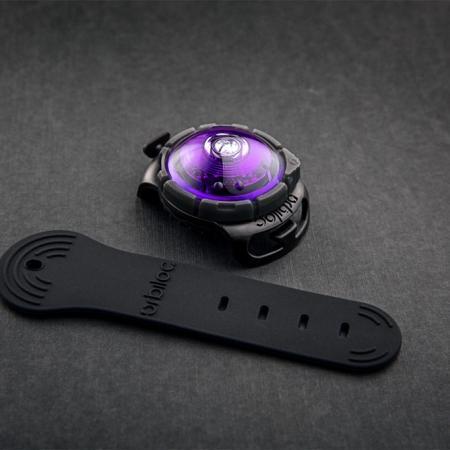 Elbhunde Dresden Orbiloc Dog Dual Safety Light Purple