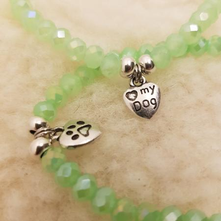 Elbhunde Dresden Armband silber Love Dog Mint