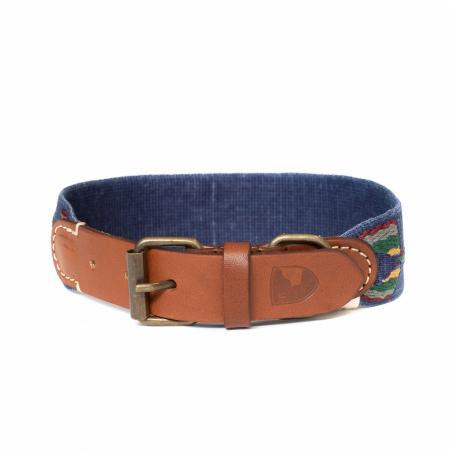 Elbhunde Dresden Buddys Dogwear Etna Blue Halsband Leder