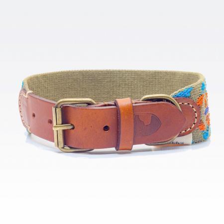 Elbhunde Dresden Buddys Dogwear Etna Green Halsband Leder