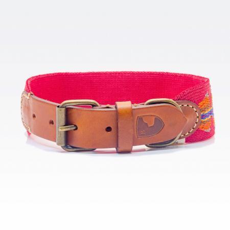 Elbhunde Dresden Buddys Dogwear Etna Red Halsband Leder