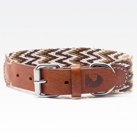 Elbhunde Dresden Buddys Dogwear Peruvian Brown Halsband
