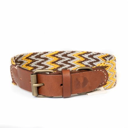 Elbhunde Dresden Buddys Dogwear Peruvian Gold Halsband