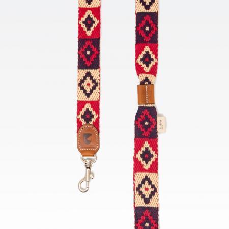 Elbhunde Dresden Buddys Dogwear Peruvian Indian Red Leine