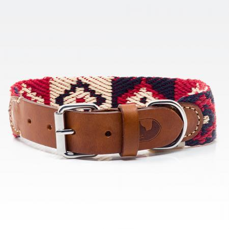 Elbhunde Dresden Buddys Dogwear Peruvian Indian Red Halsband