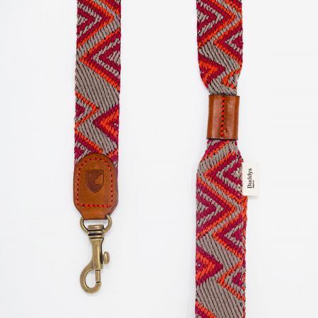 Elbhunde Dresden Buddys Dogwear Peruvian Pikes Orange Leine