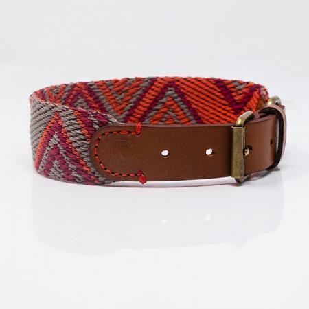 Elbhunde Dresden Buddys Dogwear Peruvian Pikes Orange Halsband