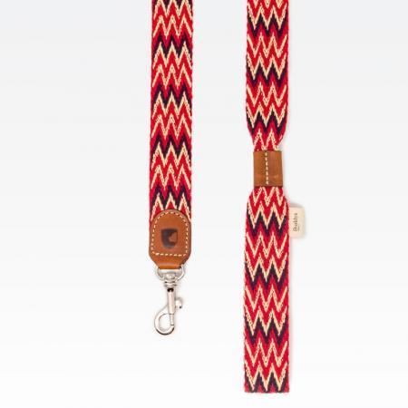 Elbhunde Dresden Buddys Dogwear Peruvian Red Leine