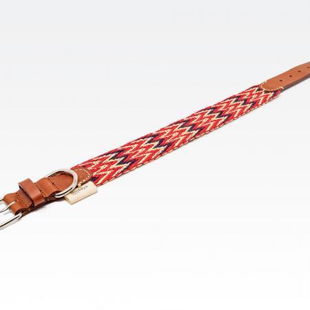 Elbhunde Dresden Buddys Dogwear Peruvian Red Halsband
