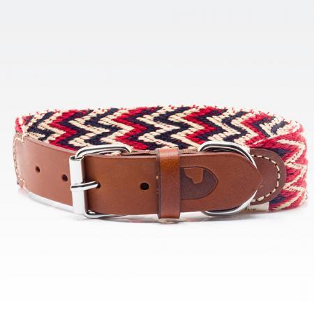 Elbhunde Dresden Buddys Dogwear Peruvian Red Halsband Leder