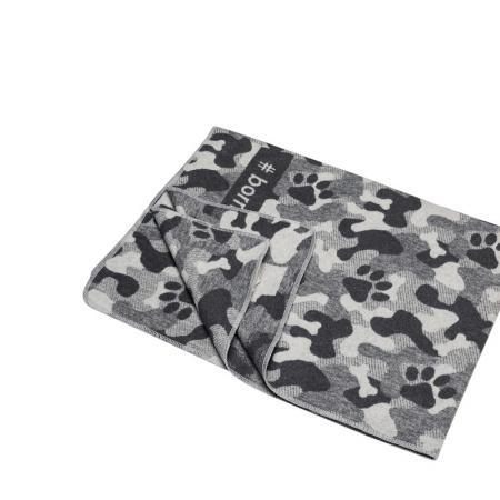 Elbhunde Dresden David Fussenegger Fleece Decke Born to be Wild Camouflage Detail