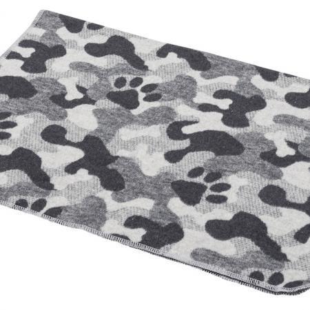 Elbhunde Dresden David Fussenegger Fleece Decke Born to be Wild Camouflage