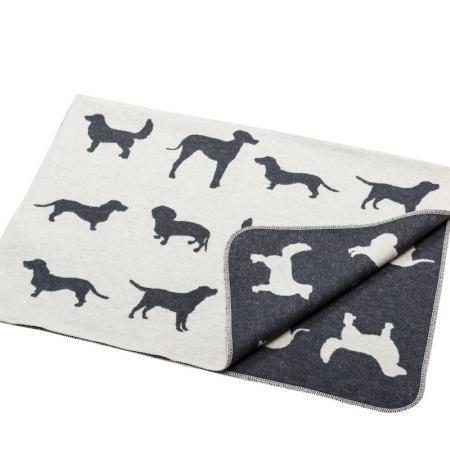 Elbhunde Dresden David Fussenegger Fleece Decke Dogs Allover Detail
