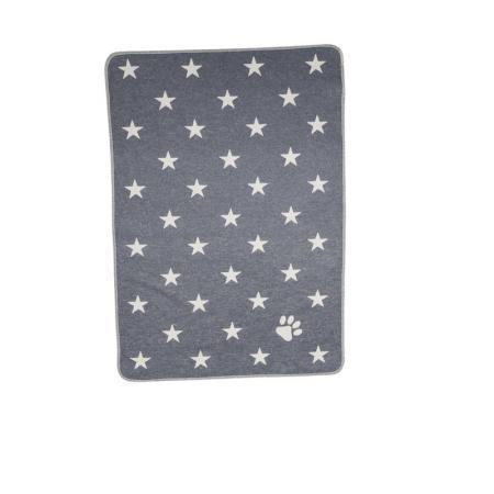 Elbhunde Dresden David Fussenegger Fleece Decke Stars Allover Grau
