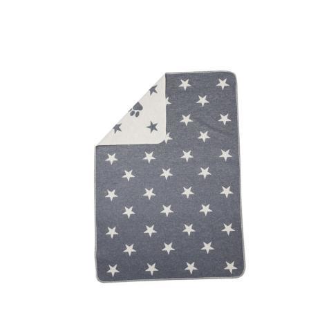 Elbhunde Dresden David Fussenegger Fleece Decke Stars Allover Grau Detail