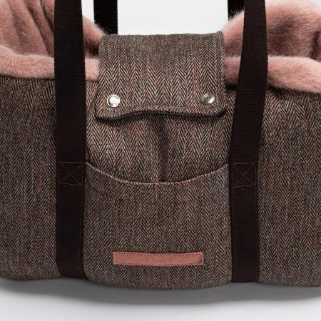 Elbhunde Dresden Cloud7 Dog Carrier Milano Herringbone Brown Detail