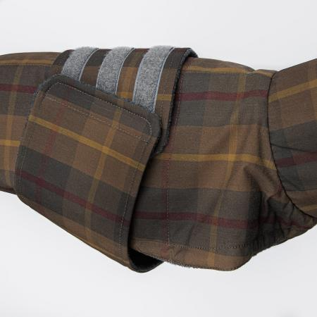 Elbhunde Dresden Cloud7 Hundemantel Dackel Brooklyn Waterproof Waxed Tartan Klettverschluss