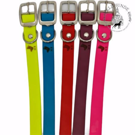 Elbhunde Biothane Halsband Wunschfarbe Logo