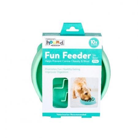 Elbhunde Dresden Outward Hound Fun Feeder Mint XS