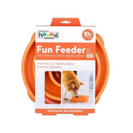 Elbhunde Dresden Outward Hound Fun Feeder Orange S
